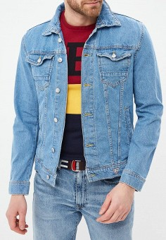 6ccd7057 Куртка джинсовая, Guess Jeans, цвет: синий. Артикул: GU644EMEAML4. Одежда /
