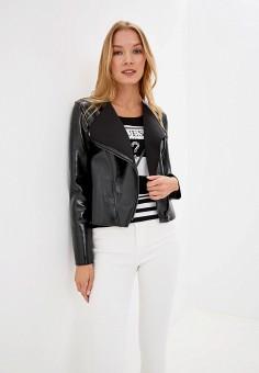 4383b72f0 Куртка кожаная, Guess Jeans, цвет: черный. Артикул: GU644EWFNKN1. Guess  Jeans