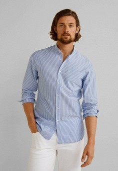 999ab8311659 Рубашка, Mango Man, цвет: голубой. Артикул: HE002EMFOGH6. Одежда / Рубашки