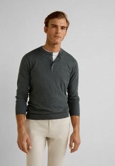 a0450ca2568b5 Джемпер, Mango Man, цвет: серый. Артикул: HE002EMFRAV2. Одежда / Джемперы
