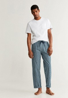 3fd8bd3f5c49c Пижама, Mango Man, цвет: белый, зеленый. Артикул: HE002EMFWMA7. Одежда