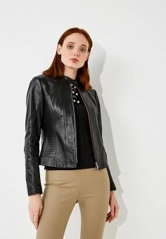 Куртка кожаная, Hugo Hugo Boss, цвет: черный. Артикул: HU286EWBHPE0.