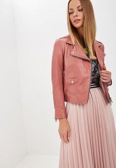 Куртка кожаная, Imperial, цвет: розовый. Артикул: IM004EWCIQV0.