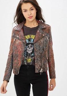 Куртка кожаная, Imperial, цвет: коричневый. Артикул: IM004EWCIQV4.