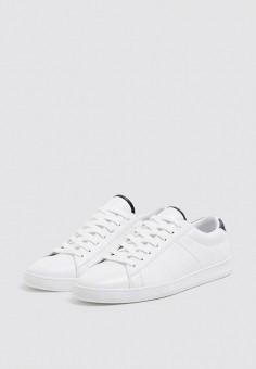 39fec61e Кеды, Pull&Bear, цвет: белый. Артикул: IX001XM0032I. Обувь