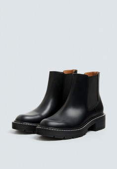 14e560f090eb Ботинки, Pull amp Bear, цвет  черный. Артикул  IX001XW003B6. Обувь