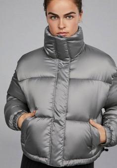 Куртка утепленная, Oysho, цвет  серебряный. Артикул  IX001XW003O4. Спорт    Фитнес 298ad00b443