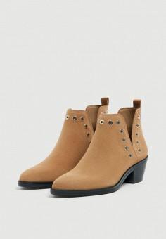 506a274f47cf Ботильоны, Pull amp Bear, цвет  коричневый. Артикул  IX001XW00404. Обувь