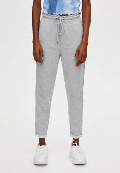 5925bdc089e7 Брюки спортивные, Pull&Bear, цвет: серый. Артикул: IX001XW005O1. Одежда