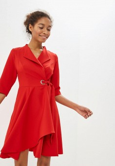 Платье, Izabella, цвет  красный. Артикул  IZ002EWDJAA1. Одежда   Платья и 51374327406
