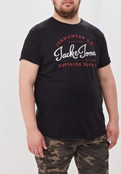 b6f081262c34 Футболка, Jack & Jones, цвет: черный. Артикул: JA391EMDTEJ2. Одежда