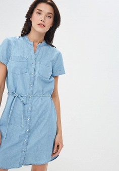 cfca8ecbe40fb3f Платье джинсовое, Jacqueline de Yong, цвет: голубой. Артикул: JA908EWDTGH2.  Одежда