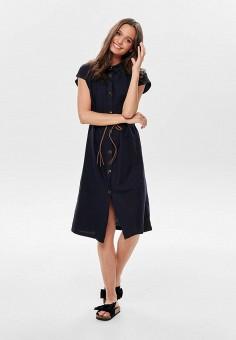 187d75d4492fa21 Платье, Jacqueline de Yong, цвет: синий. Артикул: JA908EWEJGJ0. Одежда /