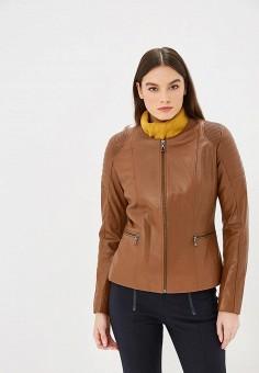 Куртка кожаная, Jimmy Sanders, цвет: коричневый. Артикул: JI006EWCLIR4.