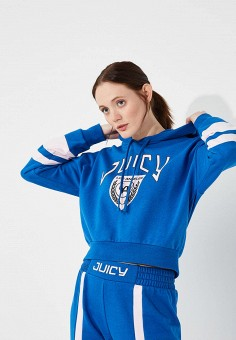 Худи, Juicy by Juicy Couture, цвет: синий. Артикул: JU018EWBHWV1. Juicy by Juicy Couture