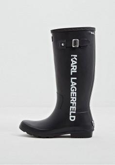 e577b0553 Резиновые сапоги, Karl Lagerfeld, цвет: черный. Артикул: KA025AWBRZZ5.  Обувь /