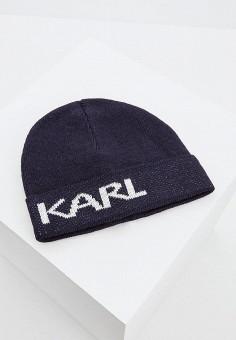cadadf4bb250 Шапка, Karl Lagerfeld, цвет  синий. Артикул  KA025CMCEJZ4. Premium    Аксессуары
