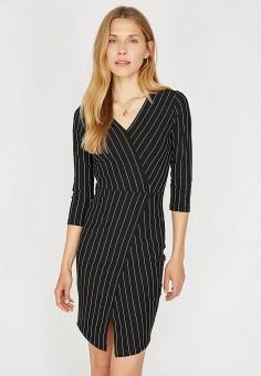 7f492aed28336c5 Платье, Koton, цвет: черный. Артикул: KO008EWEXTA6. Одежда / Платья и