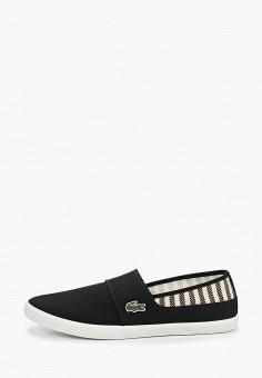 81659d42 Слипоны, Lacoste, цвет: черный. Артикул: LA038AMELQK0. Обувь. -30%