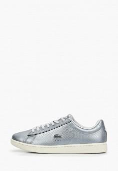 f4c309f8 Кеды, Lacoste, цвет: серебряный. Артикул: LA038AWELUR5. Обувь / Кроссовки и