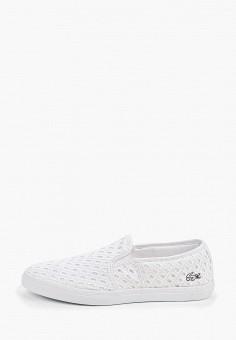 b9a91b9c5 Слипоны, Lacoste, цвет: белый. Артикул: LA038AWELYQ5. Обувь / Слипоны