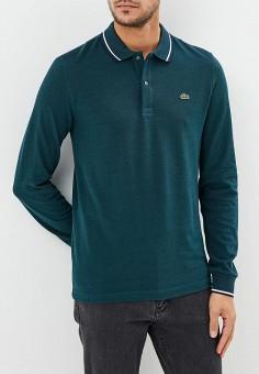 Поло, Lacoste, цвет  зеленый. Артикул  LA038EMCRMV4. Одежда   Футболки и 4ccb1cdcf55