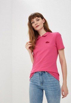2c9956586a264 Поло, Lacoste, цвет: розовый. Артикул: LA038EWELTA0. Одежда / Футболки и