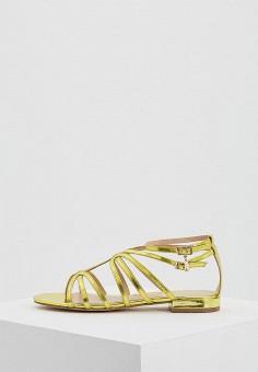 Сандалии, Liu Jo, цвет  желтый. Артикул  LI687AWAESD9. Обувь   Сандалии e45d218e046