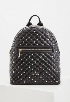 Рюкзак, Liu Jo, цвет  черный. Артикул  LI687BWDMTC0. Аксессуары   Рюкзаки e1e95858ee9