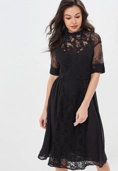 866acf75c494ff6 Платье, LOST INK, цвет: черный. Артикул: LO019EWDPJX2. Одежда / Платья