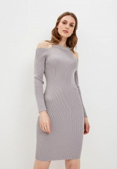 Платье, Love Republic, цвет: серый. Артикул: LO022EWCETR6. Одежда / Платья и сарафаны