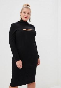 f2f2b2806159f5 Платье, LOST INK PLUS, цвет: черный. Артикул: LO035EWDJSL7. Одежда /