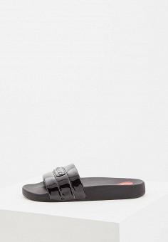 e86fb8ea2364 Сланцы, Love Moschino, цвет  черный. Артикул  LO416AWDRNN0. Premium   Обувь
