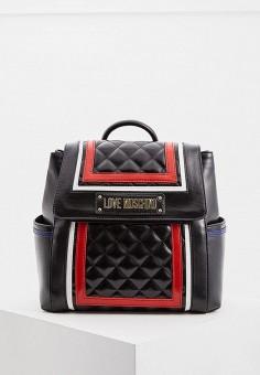 Рюкзак, Love Moschino, цвет  черный. Артикул  LO416BWDRJM2. Аксессуары    Рюкзаки cf5ded400fb