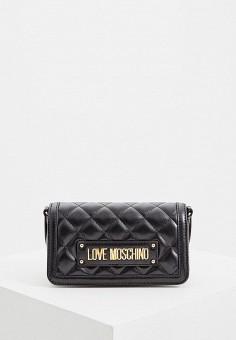 56db52411f11 Сумка, Love Moschino, цвет: черный. Артикул: LO416BWEDAW3. Аксессуары /  Сумки