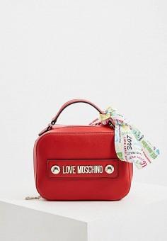 51f158e2acf3 Сумка, Love Moschino, цвет: красный. Артикул: LO416BWEDAY2. Аксессуары /  Сумки