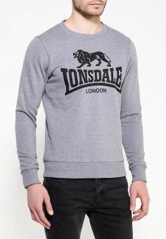 ead67b80 Свитшот, Lonsdale, цвет: серый. Артикул: LO789EMNFX26. Одежда / Толстовки и