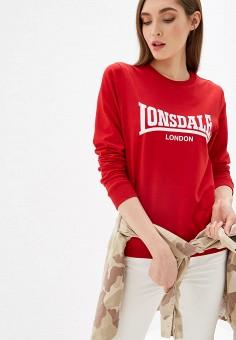 5ffc7edb2ba4 Свитшот, Lonsdale, цвет: красный. Артикул: LO789EWFLXR3. Спорт / Все  спортивные