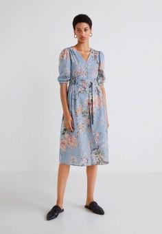 94e62b7b158b Платье, Mango, цвет  голубой. Артикул  MA002EWCFMG3. Одежда   Платья и