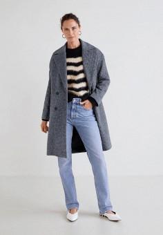 f03be432e400 Пальто, Mango, цвет  серый. Артикул  MA002EWCQNU8. Одежда   Верхняя одежда