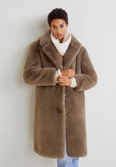 6e3a4670 Шуба, Mango, цвет: коричневый. Артикул: MA002EWDEEC3. Одежда / Верхняя  одежда
