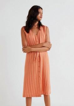 ed3247436d76 Платье, Mango, цвет  оранжевый. Артикул  MA002EWDEEE5. Одежда   Платья и