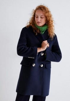 aad07cf35252 Пальто, Mango, цвет  синий. Артикул  MA002EWDKGE5. Одежда   Верхняя одежда.  Похожие товары