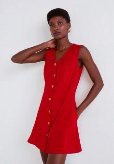 88aa57ff45d8 Платье, Mango, цвет  красный. Артикул  MA002EWDKGF3. Одежда   Платья и