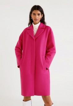 9a2b7485 Пальто, Mango, цвет: розовый. Артикул: MA002EWDODY0. Одежда / Верхняя одежда