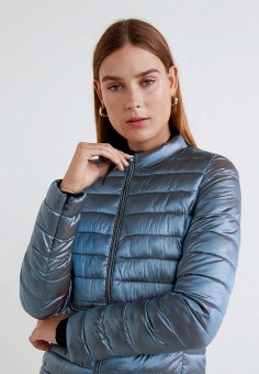 e14d29f92776 Куртка утепленная, Mango, цвет  голубой. Артикул  MA002EWDXZP7. Одежда    Верхняя