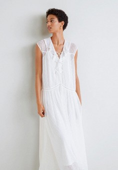 0be98e6ed0b8 Платье, Mango, цвет  белый. Артикул  MA002EWEBZA8. Одежда   Платья и