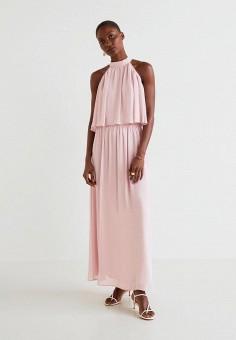 2e3e36fe96f7656 Платье, Mango, цвет: розовый. Артикул: MA002EWEYTD3. Одежда / Платья и