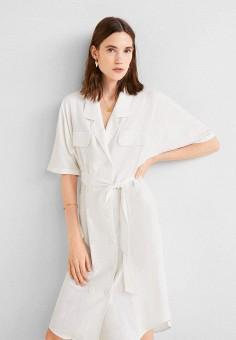 ffa184205 Платье, Mango, цвет: белый. Артикул: MA002EWFCMS8. Одежда / Платья и
