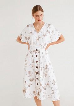 5ca0110531ab970 Платье, Mango, цвет: белый. Артикул: MA002EWFCOU3. Одежда / Платья и